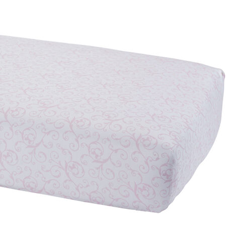 Minnie Mouse Scroll Crib Sheet, Petal ,  , large