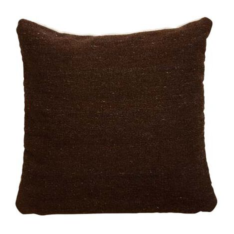 Chocolate Brown Wool Pillow ,  , large