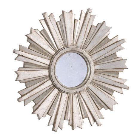 Mini-Miroir en forme d'étoile rayonnante argentée ,  , large