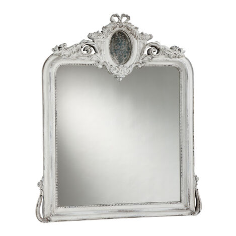 Aged White Provincial Mirror ,  , large