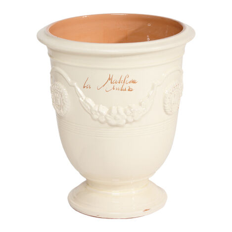 Anduze No.4 Ivory Planter ,  , large