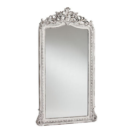 Aged White Luxe Floor Mirror ,  , large