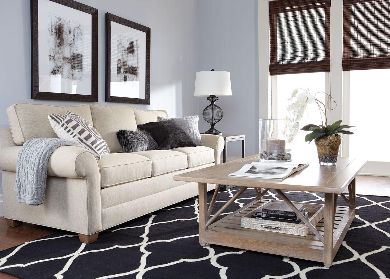 Living Room Furniture Ethan Allen Bennett Roll Arm Loveseat Ethan Allen