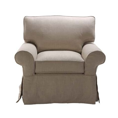 Bennett Slipcovered Chair ,  , large