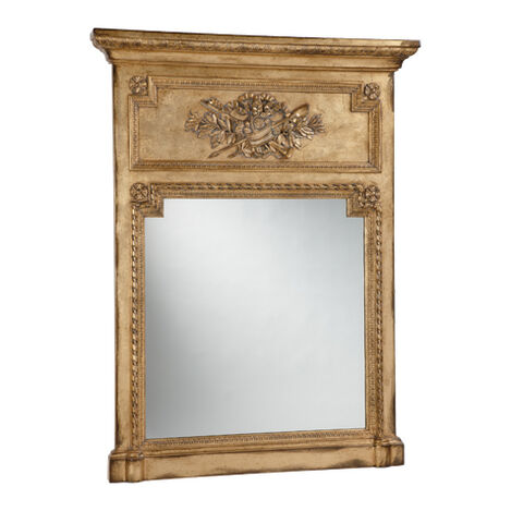 Antique Gold Madeleine Trumeau Wall Mirror ,  , large
