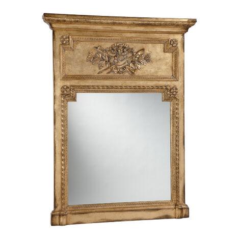 Antique Gold Madeleine Trumeau Wall Mirror ,  , large