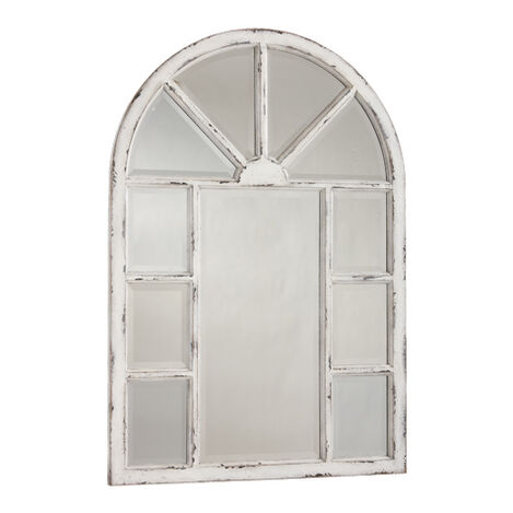 Antique White Cypress Wall Mirror ,  , large