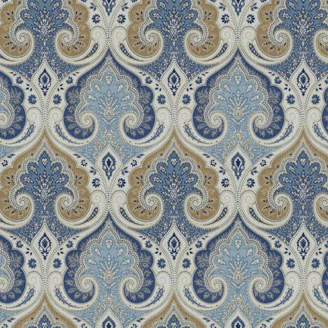 Anjali Blue Fabric ,  , large