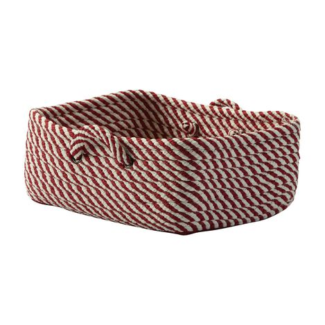 Small Red and White Basket ,  , large