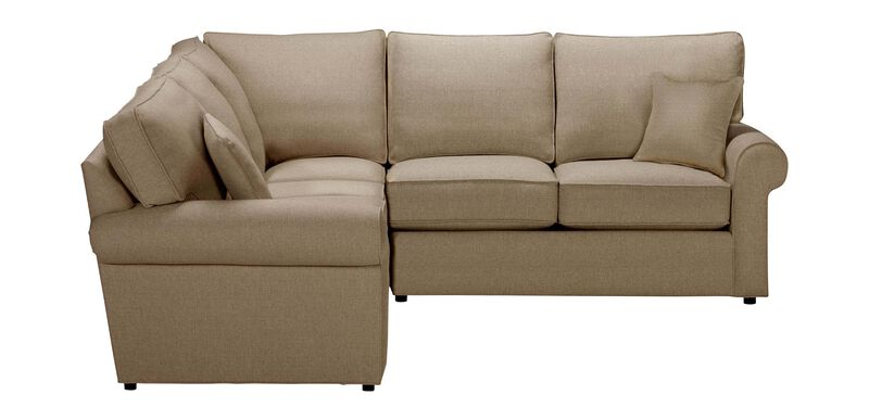 Retreat Roll-Arm Three Piece Sectional, Quick Ship , Palmer Oyster (Q3033), chenille , large_gray