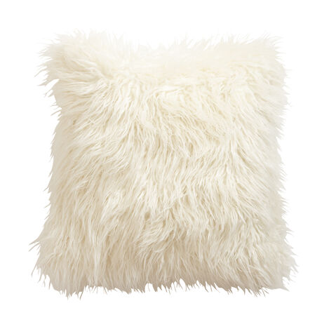 Ivory Faux Fur Pillow ,  , large