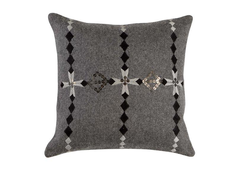 Modern Gray Embellished Pillow ,  , large_gray
