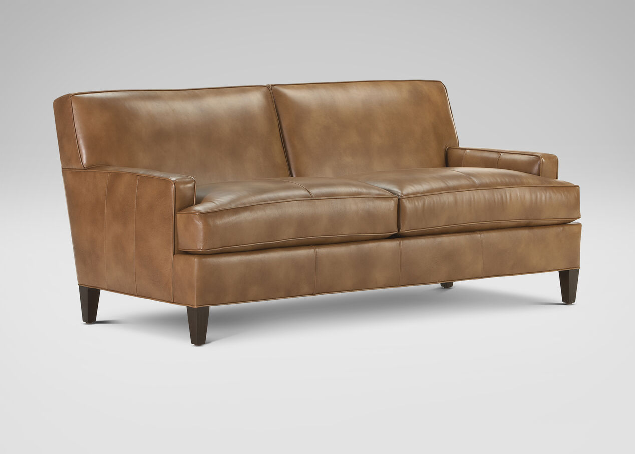 Bryant Leather Sofa Ethan Allen