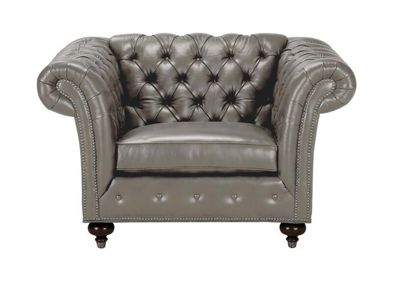 Mansfield Leather Chair, Quick Ship ,  , large_gray