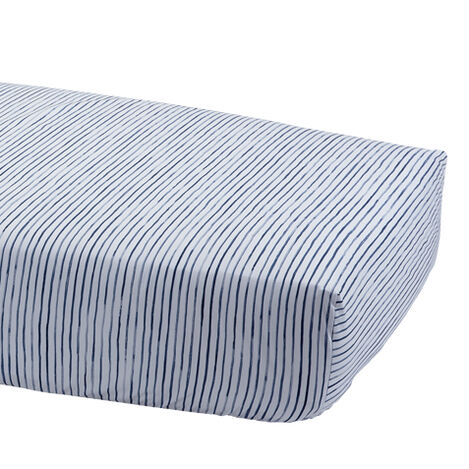 Paint Stripe Crib Sheet, Midnight ,  , large