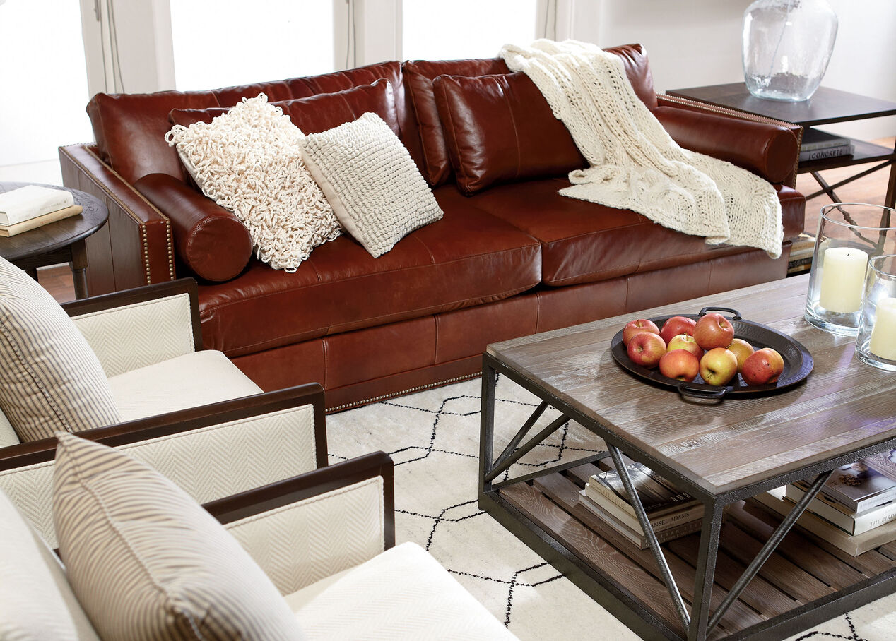 Living Room Furniture Ethan Allen Abington Leather Sofa Ethan Allen