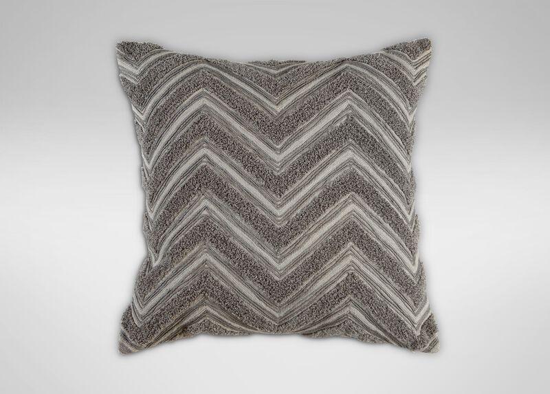 Modern Gray Bouclé Chevron Pillow ,  , large_gray