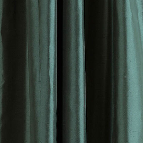 Teal Satin Dupioni Fabric ,  , large