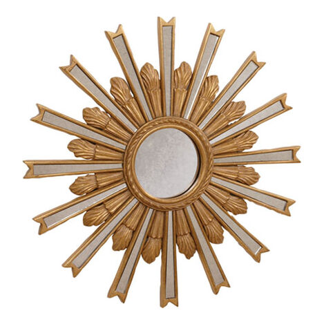 "20"" Gold Starburst Mirror ,  , large"