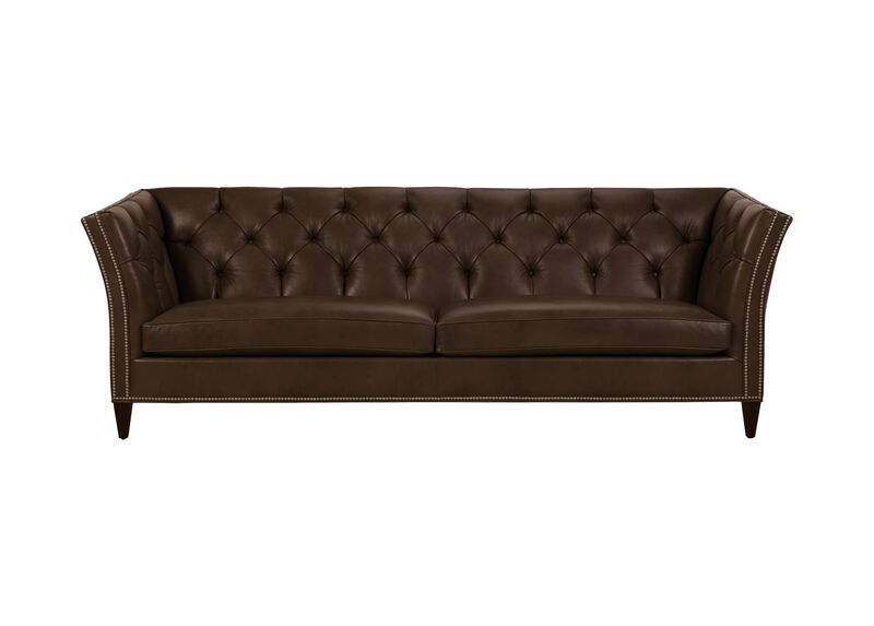 Shelton Leather Sofa, Quick Ship ,  , large_gray