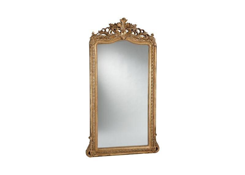 Aged Gold Luxe Floor Mirror ,  , large_gray
