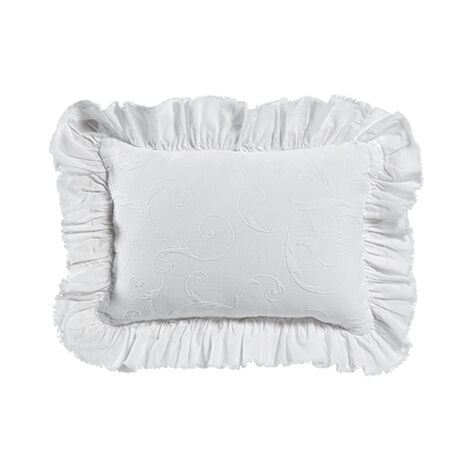 Minnie Mouse Scroll Matelassé Boudoir Pillow, Snow ,  , large
