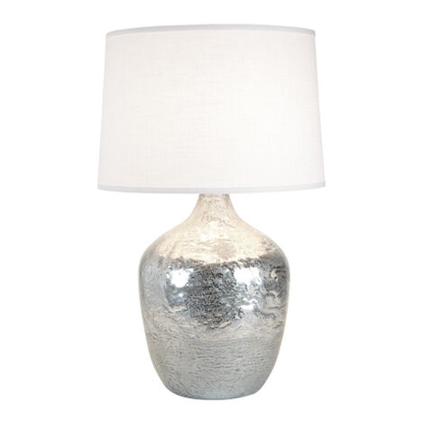Large Silver Ice Plum Jar Lamp ,  , large