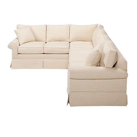 Bennett Roll-Arm Skirted Sectional ,  , large