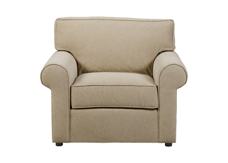 Retreat Roll-Arm Chair, Quick Ship , Palmer Oyster (Q3033), chenille , large_gray