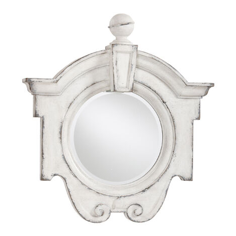 Antique White Gisele Mirror ,  , large