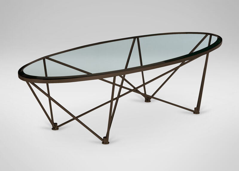 Kestral Oval Coffee Table, Vintage Steel ,  , large_gray