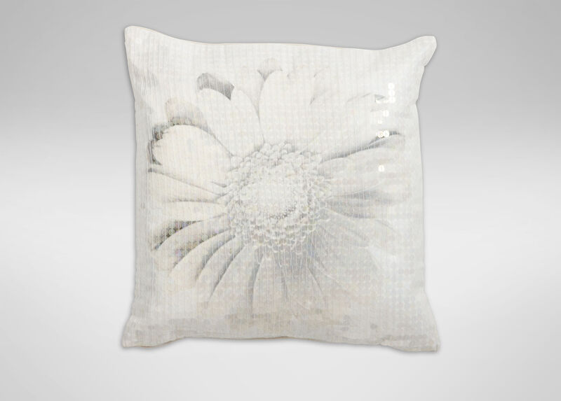Gray Daisy Pillow ,  , large_gray