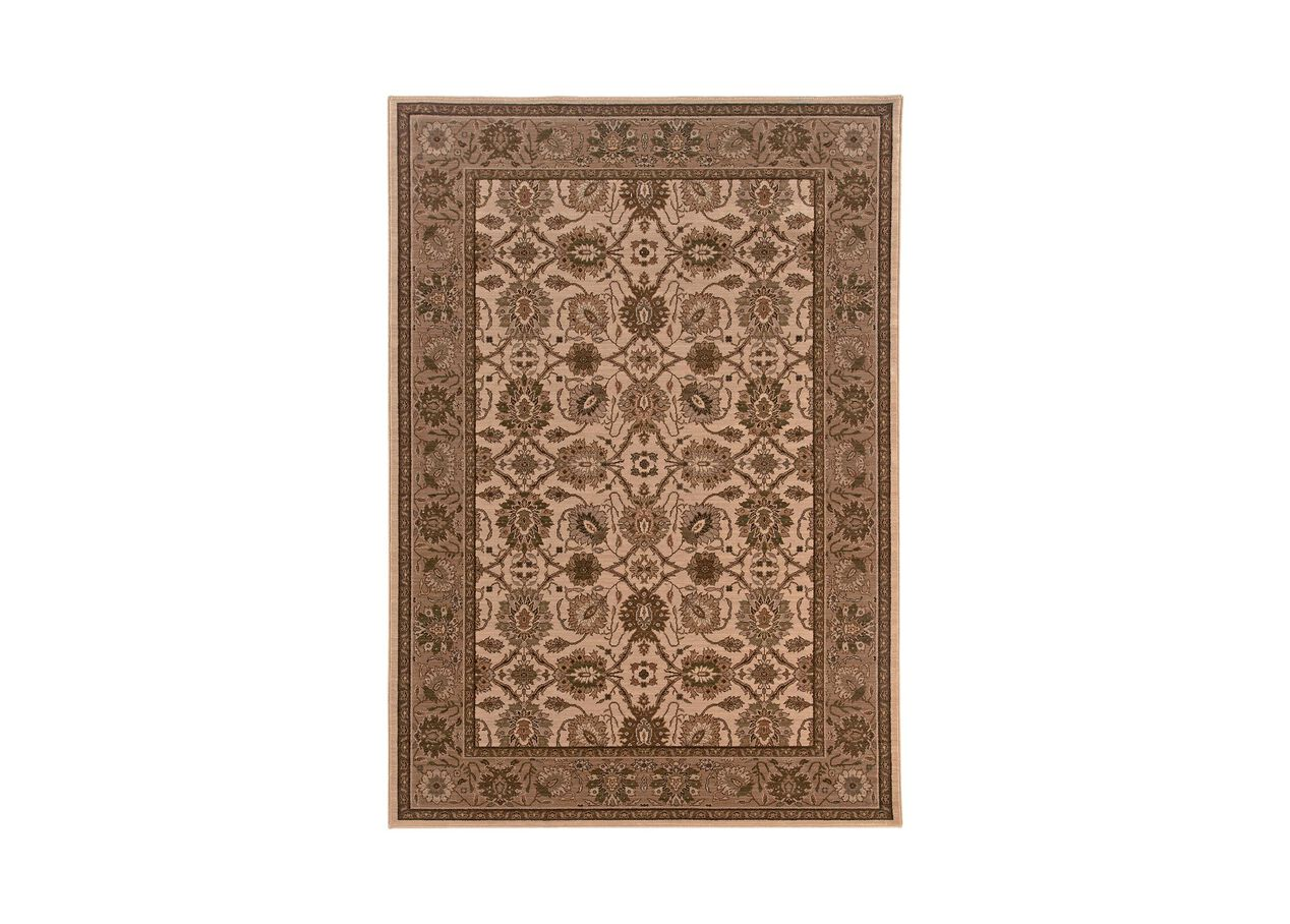 Sultanabad Area Rug Ivory Tan Traditional Patterned Rugs