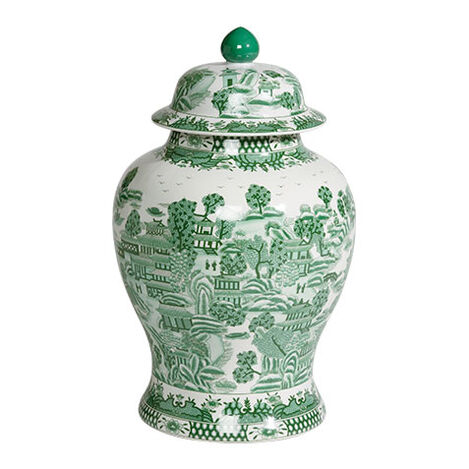 Large Green Ginger Jar ,  , large