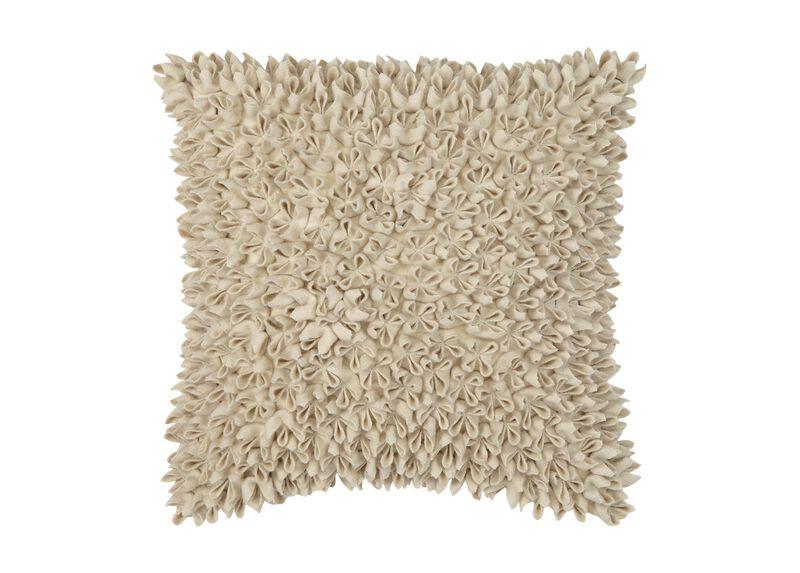 Beige Fleurette Pillow ,  , large_gray