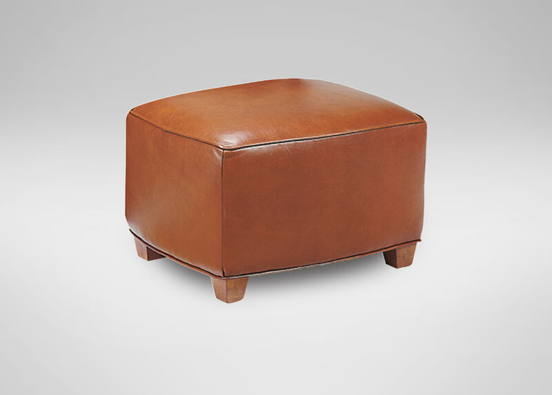 Bentley Leather Ottoman ,  , large_gray