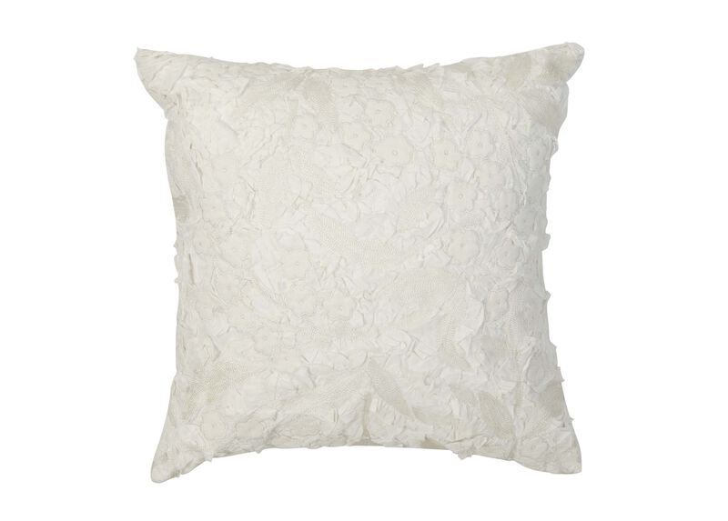 Embellished Floral Pillow ,  , large_gray