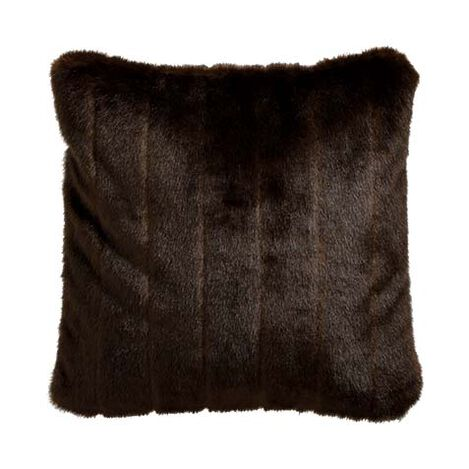 Sable Faux Fur Pillow ,  , large