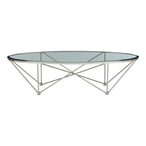 Kestral Oval Coffee Table, Polished Steel ,  , large