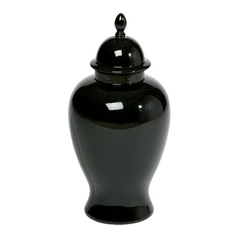 Small Black Temple Jar ,  , large