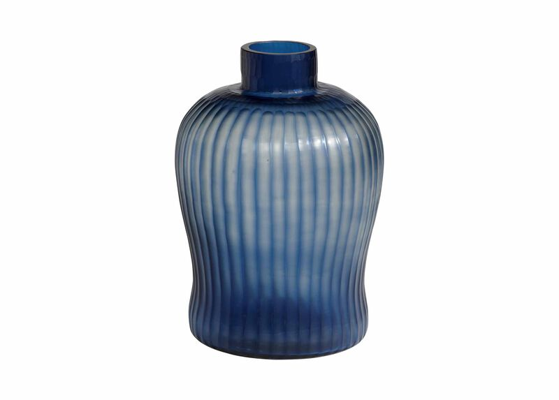 Cut Brayton Indigo Vase ,  , large_gray