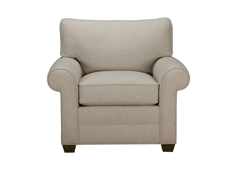 Bennett Roll-Arm Chair, Quick Ship , Palmer Pearl (Q3039), chenille , large_gray