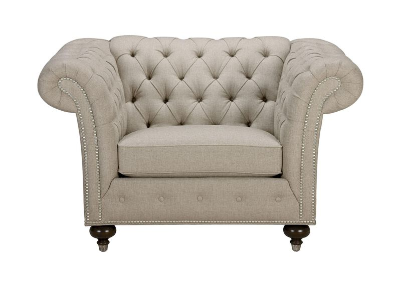 Mansfield Chair, Quick Ship , Palmer Pearl (Q3039), chenille , large_gray