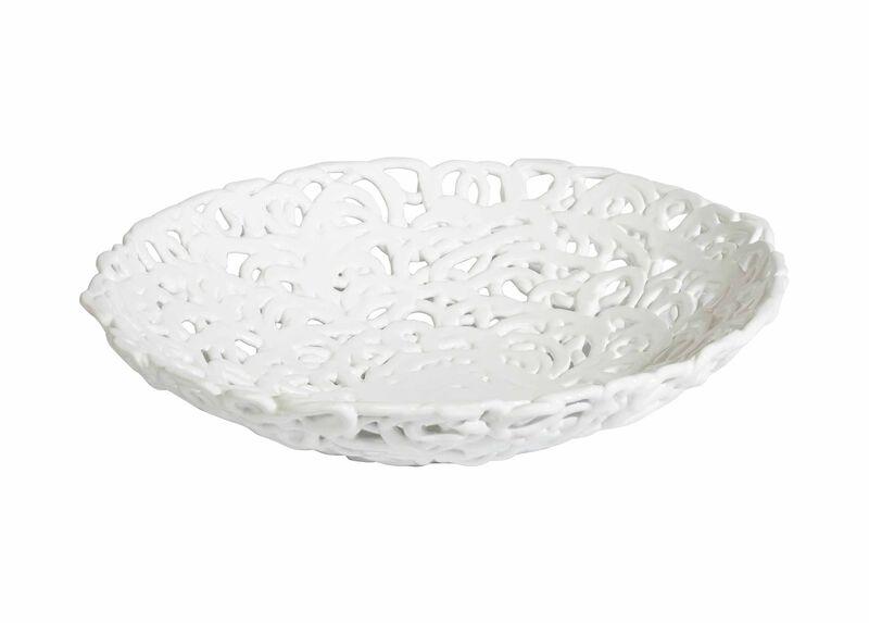 Braided white centerpiece bowls