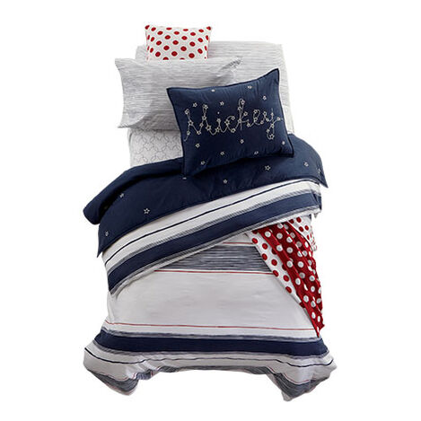Mixed Stripe Midnight Bedding ,  , large