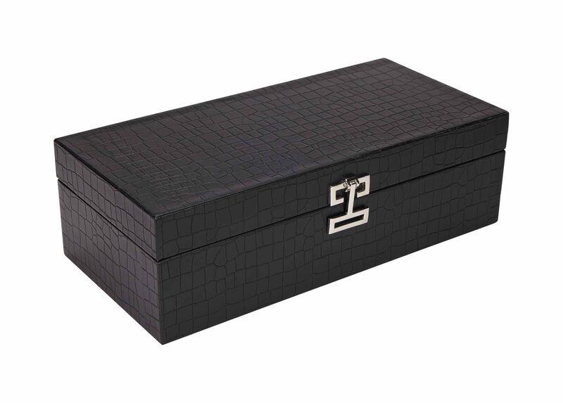 Long Black Croc Box ,  , large_gray