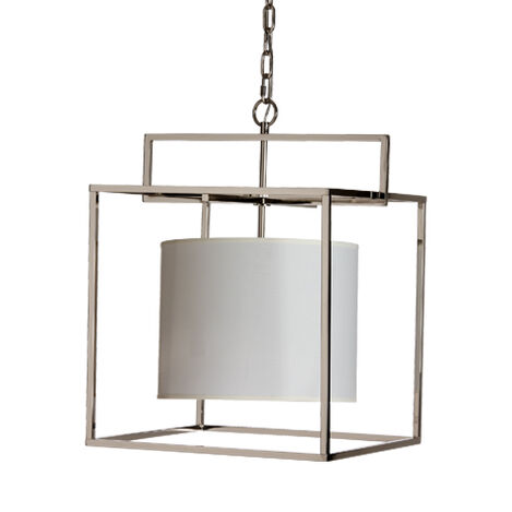 Modern Cage Nickel Chandelier ,  , large