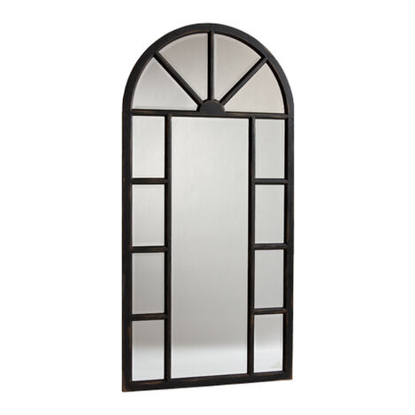Antique Black Cypress Floor Mirror ,  , large