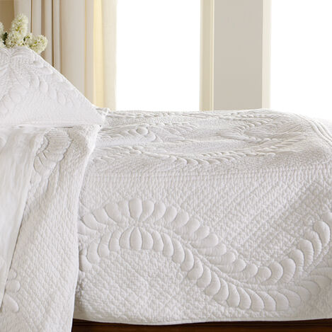 White Trapunto Quilt ,  , large