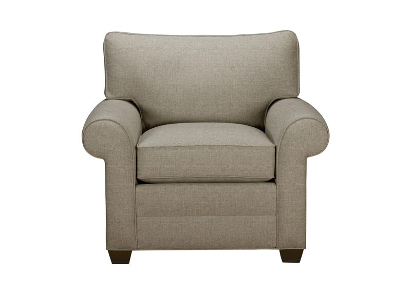 Bennett Roll-Arm Chair, Quick Ship , Palmer Fog (Q3055), chenille , large_gray
